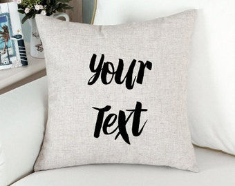 Personalised Throw Pillow Cover  - Custom Cushion Cover  - Quote Pillow Cover - Quote Cushion Case - Decorative Pillow - Home Decor