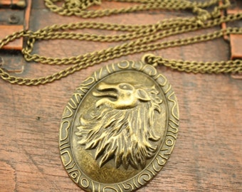 the Game of Thrones Cersei Lannister lion necklace bronze steampunk jewelry ,Victorian Jewelry,Hairstylist Christmas jewelry C234N_B