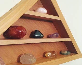 Pyramid Shelf- Made with cedar and Maple for strength and beauty