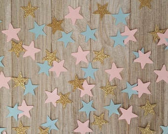 Gender Reveal  Twinkle Little Star  Gender Reveal Party  Star Confetti  Twins Baby Shower  Baby Shower Decorations  Coordinating Confetti™