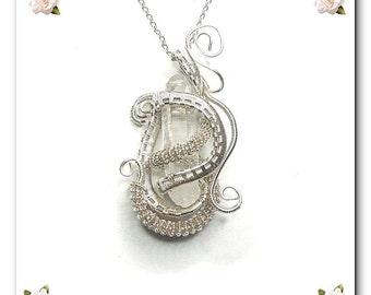diy pdf tutorial Wire Wrapping Jewelry Pendant Treasure,crystal,quartz,stone,silver,wire,wrap,gizmo,gift,Wicca,Reiki