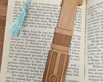 Star Wars Rey and Luke and Anakin Skywalker / Darth Vader Lightsaber Bookmark with Tassel