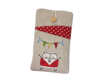 iPhone 8 Plus Case, iPhone X, SE iPhone Pouch, Camper Van Gifts, iPhone 7 Plus, Gift Under 25, iPhone 8 Sleeve, iPhone 7 Case