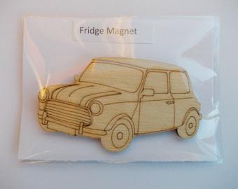 Mini Fridge Magnet - Wood etched mini
