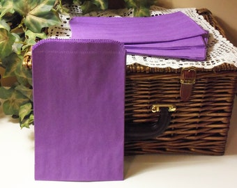 Purple Paper Bag, Purple Bag, 50 Purple 6x9 Paper Gift Bags, Merchandise Bags, Favor Bags, Weddings, Showers, Birthdays, Treats