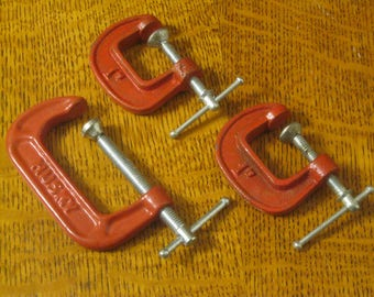 Three C-Clamps, Small C-Clamps, Jewelry Makers Tools