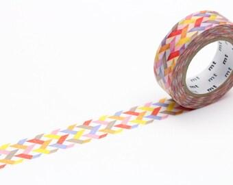MT washi tape, red slashes, 15 mm