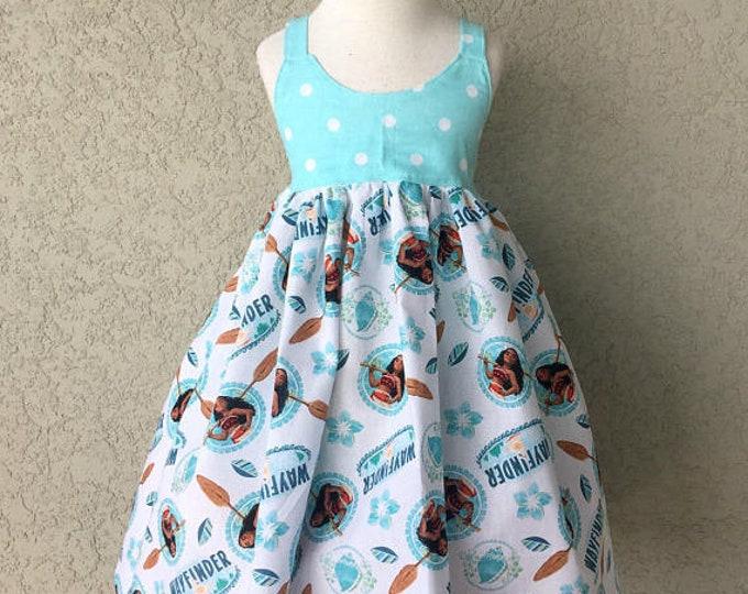 Moana Wayfinder Moana Wayfinder Hummingbird Dress baby Toddler Girls Princess Birthday Vacation Photo Dress