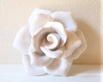 Wall hanging Rose sculpture, rose bud, clustered wall flowers, stone flower, rose sculpture, modern floral decor