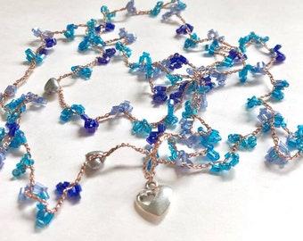Necklace-Beaded Crochet bracelet