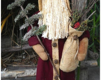 Primitive Christmas Santa Makedo E Pattern