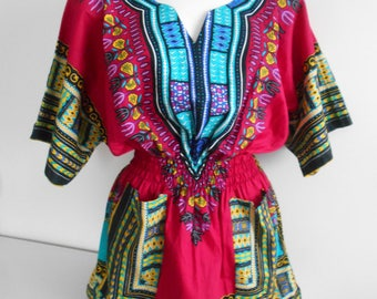 Tunic DASHIKI ANGELINA, YAMADO wax