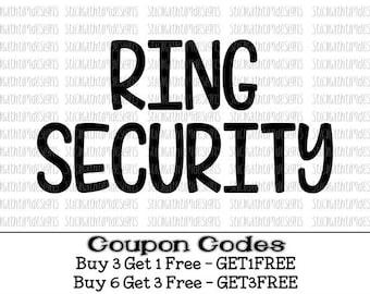 Ring Security Svg Ring Bearer Svg Bride Svg PNG Files Cut Files Wedding Svg Files for Cricut Svg Files for Silhouette Cameo Files Ring Svg