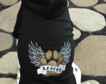 Rescue Wings Dog Hoodie Sweatshirt