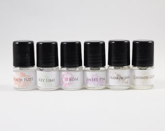 Fragrance Sample Set, Scent Samples, Roll On Perfume Samples, Samplers