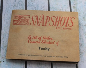 Vintage photograph album, 20's beach themed, Tenby photo's
