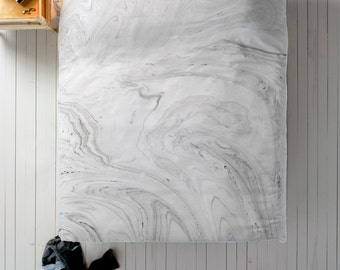 Marble Duvet Cover - Duvet Cover Queen, King or Twin for Marble Room Decor