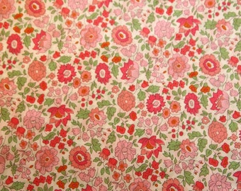 Liberty tana lawn fabric, liberty art fabric collection - Danjo C, pink floral, cute floral fabric, fat eighth