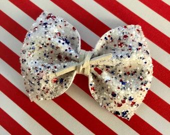 Miss America Glitter Bow