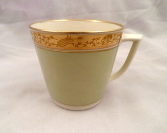 Royal Copenhagen Dagmar Demitasse Cup, 6 oz. Capacity, Pale Green, Gold