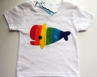 Rainbow Whale Kids T-Shirt
