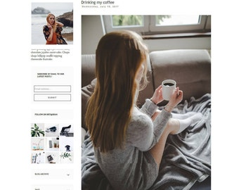 Responsive Blogger Template Design - Premade Blogger Template - Blogger Template simple - Left Sidebar Layout - Blogspot - Francoise Theme