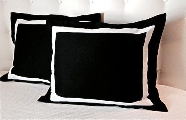 Excellent Black and White Bedding Black Pillow Black Pillowcases QW88