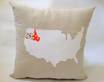 Personalized United States Pillow