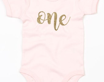 First Birthday personalized Baby Grow