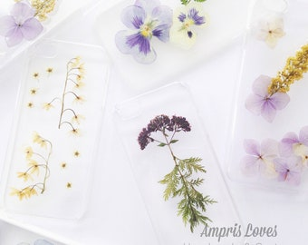 Made to Order - Pressed Flower iPhone Case - Real Flowers Foliage Design - iPhone 7 iPhone 8 iPhone X iPhone 6s 5 SE iPhone 7 Plus 8 Plus