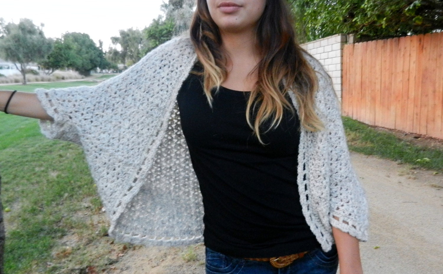 Crochet Shrug Cardigan Pattern: The Somerset Shrug Pattern