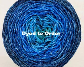 Under The Sea Chromatic Gradient, dyed to order - pick your yarn and yardage!