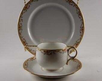 Limoges Tea Cup Trio