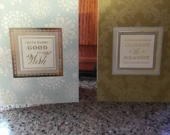 Aet of 5 Anna Griffin popup Christmas Cards