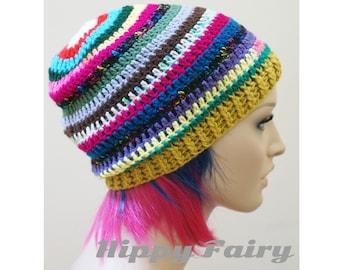 multi colored beanie
