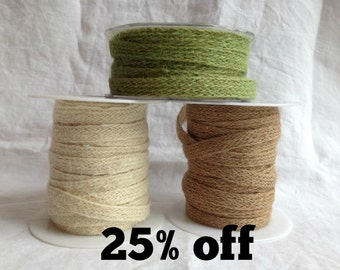 SALE 25% OFF - Jute - Woven - 10mm wide - 3m - Natural - Eco