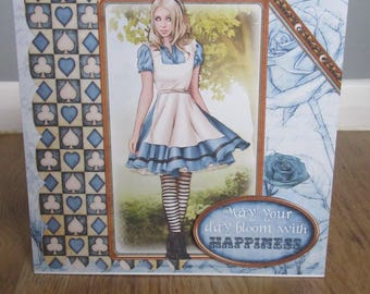 Handmade Alice in Wonderland card