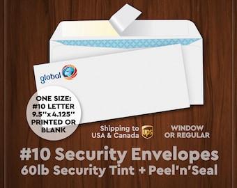 Envelopes – 60lb Security Peel'n'Seal (Digitally Printed)