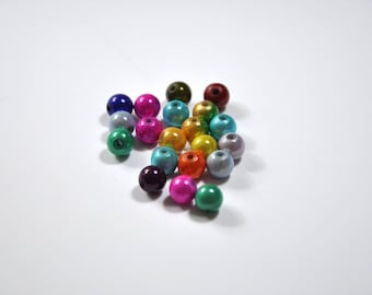 PE29 - Set of 20 beads magical mix of colors