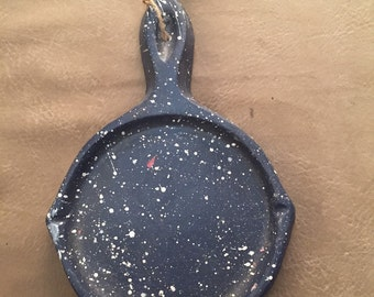 Old fashioned cast iron fry pan looking candle holder.  You choose type!