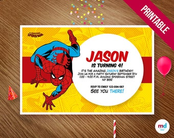 Spiderman printable cupcake toppers candy bar birthday party spiderman invitation spiderman invitations spiderman printable invitation spiderman printables spiderman comic birthday invitation filmwisefo