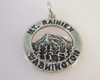 Sterling Silver MT. RAINER Charm Pendant Washington National Park .925 Sterling Silver New np02