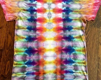Tie dye. Ice dyed.  Adult M.