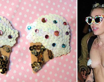 The Original Ice Cream Cone Pasties - Miley Cyrus - Burlesque