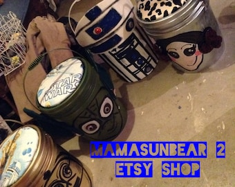 Star Wars Inspired  Situpons Priness Leia, Yoda, C3PO, R2D2 perfect for kids and adults