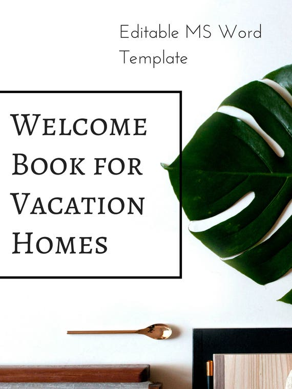 vacation rental welcome book printable template example. Black Bedroom Furniture Sets. Home Design Ideas