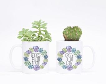 Crazy Plant Mom - Funny Plant Mom Gift - Plant Lady Gift - Plant Lady Mug - Plant Mom Mug