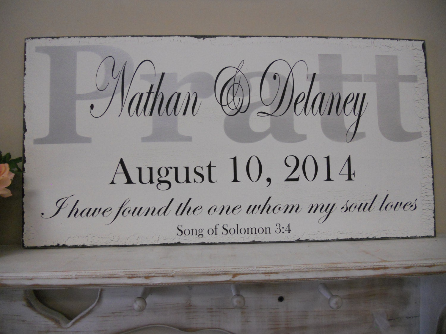 personalized wedding signsilver and black wedding wedding