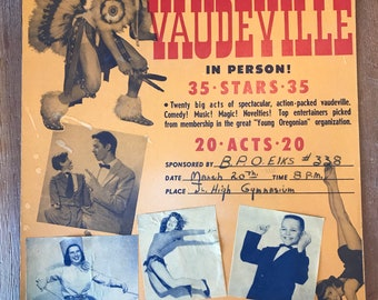 1958 Oregonian Vaudeville Advert
