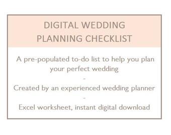 wedding to do check list